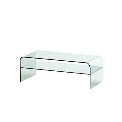 Tavolino Ellittico in Cristallo Hakka E| Montina ®